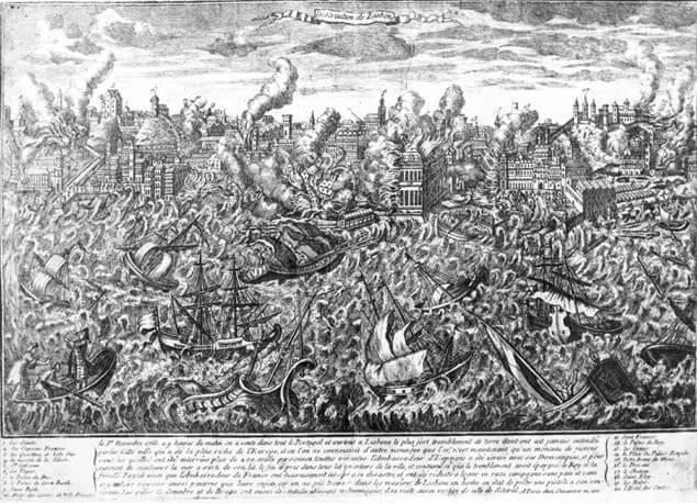 Gravura de Lisboa no terramoto de 1755, Serôdio Armando, 1964