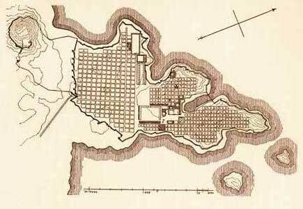 Planta da cidade de Mileto
